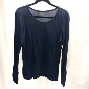 XL solid blue long sleeve Maurices T-shirt